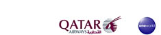 Qatar Airways and oneworld logos